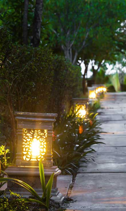 Perkins Landscaping  Residential Landscape Lighting